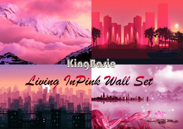 Living In Pink Wall Set